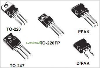 STB13NK60Z pinout,Pin out