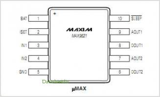 MAX9621 pinout,Pin out